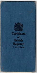 NE British Ship Registry - 1966 - cover